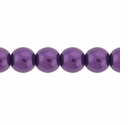 Pearls Imitation Puple 6mm Round Beads (100PK)