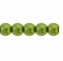 Pearls Imitation Green 6mm Round Beads (100PK)