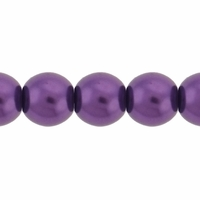 Pearls Imitation Puple 8mm Round Beads (50PK)