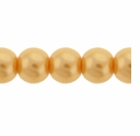 Pearls Imitation Yellow 8mm Round Beads (50PK)