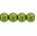 Pearls Imitation Green 8mm Round Beads (50PK)