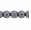 Pearls Imitation Grey 8mm Round Beads (50PK)