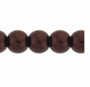 Pearls Imitation Brown 8mm Round Beads (50PK)