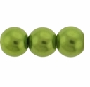 Pearls Imitation Green 10mm Round Beads (40PK)