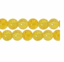 8mm Crackle Glass Topaz Beads (50PK)