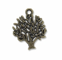 Antiqued Brass 19mm Tree Charm (10PK)