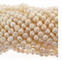 White Baroque Potato Freshwater Pearl 6-7mm Bead Strand