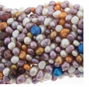 Multi-Color Lavender Mix Baroque Pearl Bead Strand