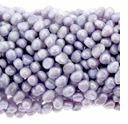 5-6mm Lt. Purple Lavender Baroque Nugget Pearls Strand