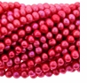 Fuchsia 6-7mm Potato Freshwater Pearl Beads Strand