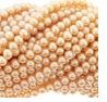 Peachy Pink Freshwater Potato Pearl 7-8mm Bead Strand