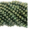 Forest Green Potato Freshwater Pearl 6-7mm Bead Strand