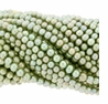 Lt Olivine 6-7mm Potato Freshwater Pearl Beads Strand