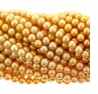 Gold 5.5-6mm Freshwater Potato Pearl Strand