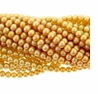 Gold 4-5mm  Freshwater Potato Pearl Strand