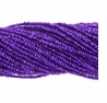Purple 1.5-2mm Potato Freshwater Pearl Bead Strand
