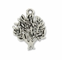 Antiqued Silver 19mm Tree Charm (10PK)