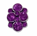 Antiqued Silver Purple Rhinestone 16mm 2 Strand Spacer (1PC)