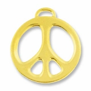 Antique Gold 1ö Peace Charm