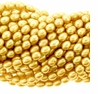 Lt Gold  5-6mm Rice Freshwater Pearl Bead Strand