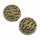 Antiqued Brass 10mm Flat Round Folage Beads (10PK)