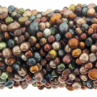 Multi-Color Bronze Mix Freshwater Pearl Bead Strands