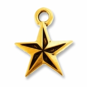 Antique Gold Nautical Star Charm
