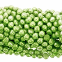 Green Baroque Potato Freshwater Pearl 5-6mm Bead Strand