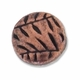 Antiqued Copper 10mm Flat Round Folage Beads (10PK)