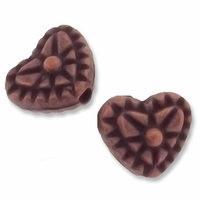 Antiqued Copper Decorative Heart Beads (5PK)