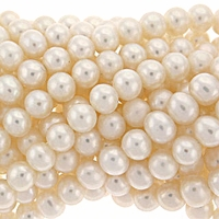 White 7-8mm Potato Freshwater Pearl Beads Strand