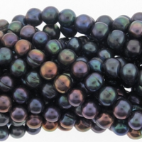 Peacock Blue Potato Freshwater Pearl 7-8mm Bead Strand