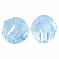 Aquamarine 10mm Swarovski 5000 Round Crystal Beads (1PC)
