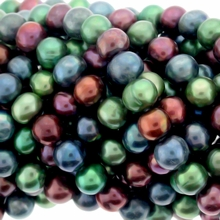 Multicolor Potato Freshwater Pearl 8-9mm Bead Strand