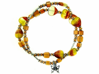 Autumn Love Heart Bracelet
