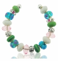 Springtime Large Hole Beaded Bracelet Design Idea