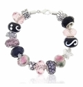 Pink Martini Large Hole Beaded Bracelet Design Idea