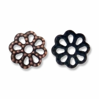 Antique Copper Fancy 6mm Filigree Bead Caps (20PK)