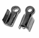 Gun Metal Plated Fold Over Crimps (10PK)