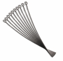Gun Metal Plated 1 3/4 Inch 21GA Eye Pin (100PK)