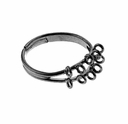 Gun Metal Plated 17mm Adjustable Ring (1PC)
