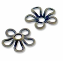Antiqued Brass  9mm Flower Bead Cap (10PK)