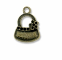 Antiqued Brass Handbag Charm