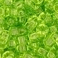 TOHO 8/0 Seed Bead:  Transparent Lime Green (10g)