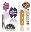 Crystal Rhinestone Bridge Spacer Beads