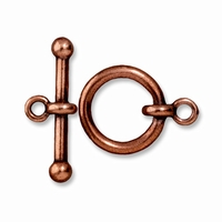 Antiqued Copper 5/8 Inch Anna's Toggle Clasp