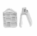 Silver Plated C Crimp Cord Ends (10PK)