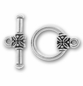 Silver/Rhodium Plated Pewter Toggles and Clasps