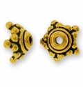 Gold Plated Pewter Bead Caps