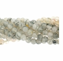 Rutilated Quartz 3mm Round 15 Inch Strand